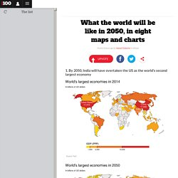 What the world will be like in 2050, in eight maps and charts
