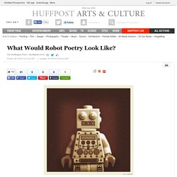 What Would Robot Poetry Look Like?