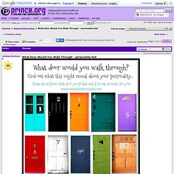 What Door Would You Walk Through - personality test