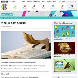 What is Yom Kippur? - CBBC Newsround