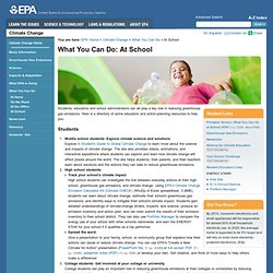 EPA What You Can Do At School
