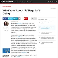 What Your 'About Us' Page Isn't Doing