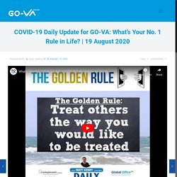 What's Your No. 1 Rule in Life? - COVID-19 Daily Update for GO-VA: