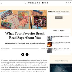 What Your Favorite Beach Read Says About You