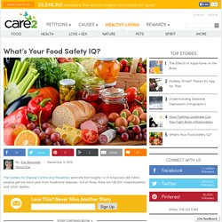 What's Your Food Safety IQ?