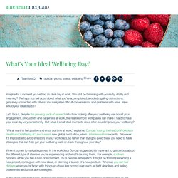 What's Your Ideal Wellbeing Day?