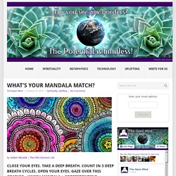 What's Your Mandala Match?
