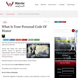 What Is Your Personal Code Of Honor
