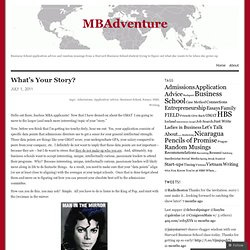 What's Your Story? « MBAdventure