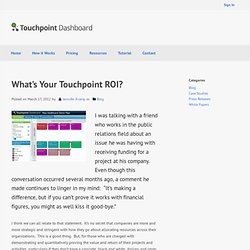 What's Your Touchpoint ROI?