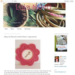 Mary Go Round crochet flower ring tutorial