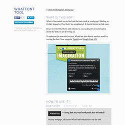 WhatFont Bookmarklet « Chengyin Liu