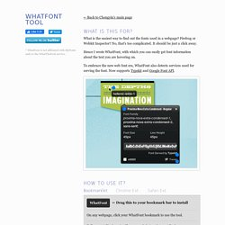 WhatFont Tool - The easiest way to inspect fonts in webpages « Chengyin Liu