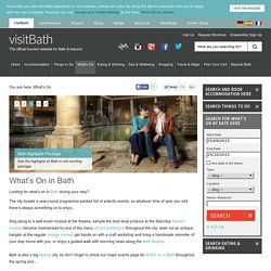 Whats On in Bath – VisitBath.co.uk