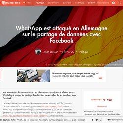 WhatsApp est attaqué en Allemagne sur le partage de données avec Facebook - Politique