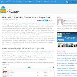 HOW TO: Find WhatsApp Chat Backups in Google Drive