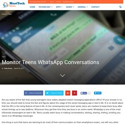Monitor Teens WhatsApp Conversations - MustTech News