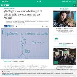 ¿Ya llegó Nico a tu WhatsApp? El dibujo salió de este instituto de Madrid