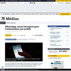 WhatsApp, canal émergent pour l'information sur mobile