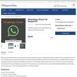 Magento 2 WhatsApp Share Extension