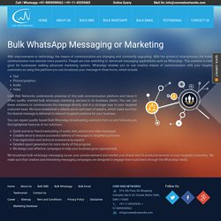 WhatsApp Marketing, Bulk WhatsApp Messaging, Delhi, India
