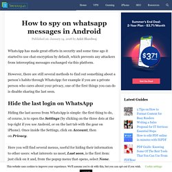How to spy on whatsapp messages in Android for free
