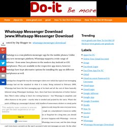 www.Whatsapp Messenger Download