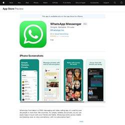 WhatsApp Messenger on the AppStore