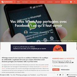 Vos infos WhatsApp partagées avec Facebook : ce qu'il faut savoir - Tech