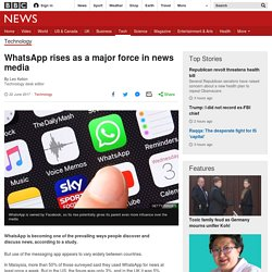 WhatsApp rises as a major force in news media