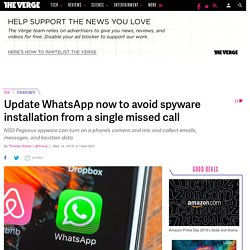 Update WhatsApp now to avoid spyware installation from a single missed call