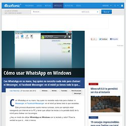 WhatsApp para Windows: cómo chatear con WhatsApp desde el PC