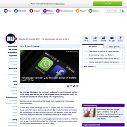 Whatsapp verliest 230 miljoen dollar in eerste helft 2014