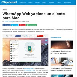 WhatsMac lleva WhatsApp Web al escritorio de tu Mac