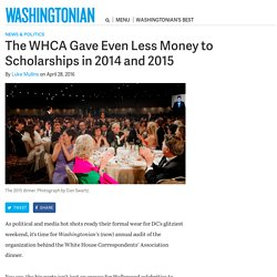 The WHCA Gave Even Less Money to Scholarships in 2014 and 2015