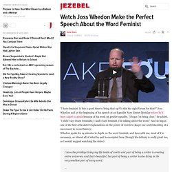 Watch Joss Whedon Make the Perfect Speech About the Word Feminist