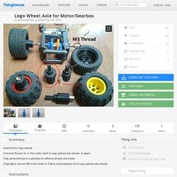 Lego Wheel Axle for Motor/Gearbox by blatantsubtlety
