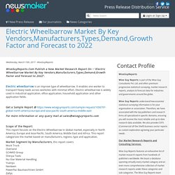 Electric Wheelbarrow Market By Key Vendors,Manufacturers,Types,Demand,Growth Factor and Forecast to 2022