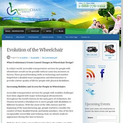 Evolution of the Wheelchair