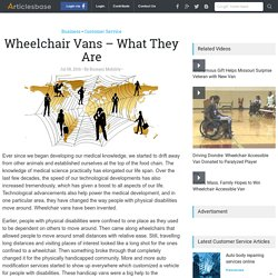 Wheelchair Vans – What They Are