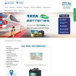 Four Wheeler Battery: TATA Green Batteries for Car, MUV & SUV