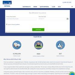 Renew Bharti AXA Two Wheeler Insurance Online: Instant Bike Insurance Renewal - Bharti AXA