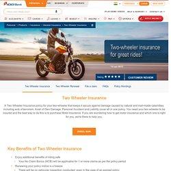 Two Wheeler Insurance: Buy / Renew Bike Insurance Online, Get Bike Insurance Quote