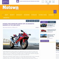 Honda two wheelers grow 33pc in domestic markets at 551,884 units