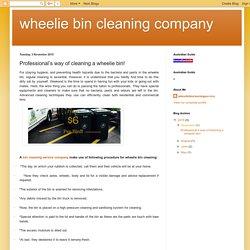 wheelie bin cleaning company: Professional's way of cleaning a wheelie bin!