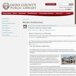 Wheeling History > Market Auditorium