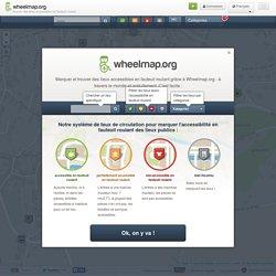 Wheelmap - trouver des lieux accessibles en fauteuil roulant