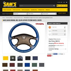 Wheelskins Original One-Color Leather Steering Wheel Covers