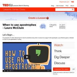 When to use apostrophes - Laura McClure
