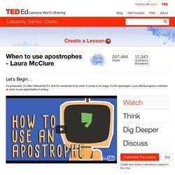 Apostrophes- Online Lesson